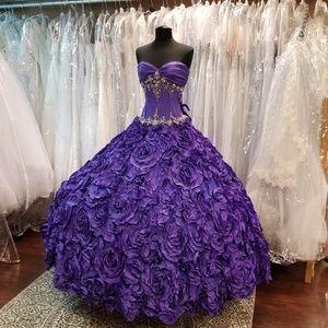 Dark Purple Rose Ballgown